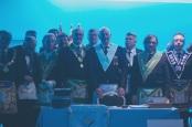 Nuestro VM Joan Garriga junto con grandes dignatarios de logias Europa